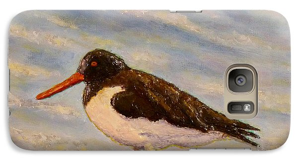 Galaxy Case featuring the painting Oyster Catcher by Joe Bergholm