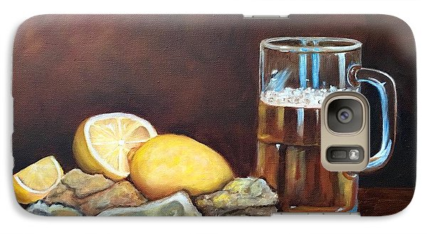 Galaxy Case featuring the painting Oysters And Beer by Susan Dehlinger