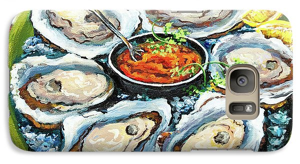 Food And Beverage Galaxy S7 Case - Oysters On The Half Shell by Dianne Parks