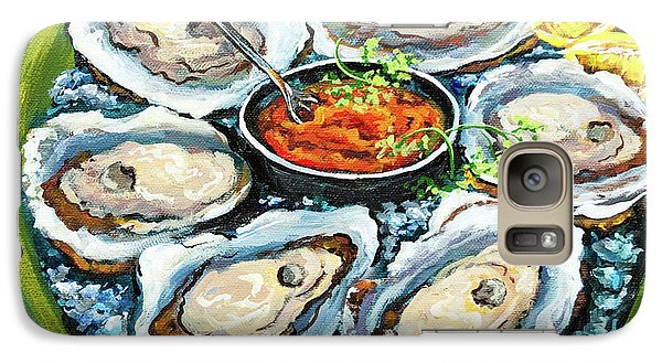 Galaxy Case featuring the painting Oysters On The Half Shell by Dianne Parks