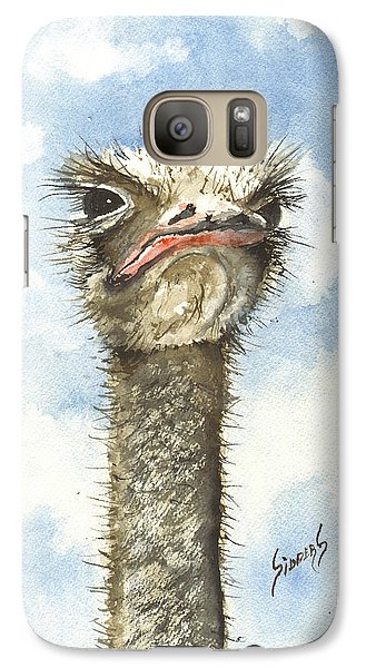 Ostrich Galaxy S7 Case - Ozzie by Sam Sidders
