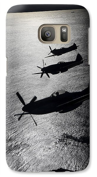 P-51 Cavalier Mustang With Supermarine Galaxy S7 Case