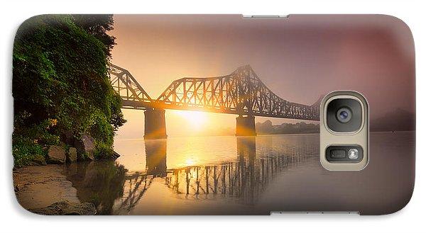 Beaver Galaxy S7 Case - P And Le Ohio River Railroad Bridge by Emmanuel Panagiotakis