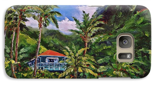 Galaxy Case featuring the painting P F by Jennifer Beaudet