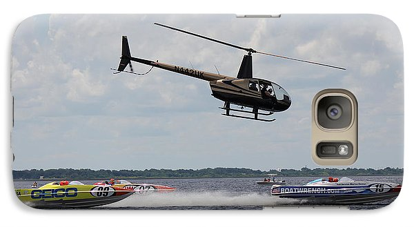 Galaxy Case featuring the photograph P1 Powerboats by David Grant