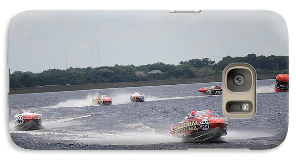 Galaxy Case featuring the photograph P1 Powerboats Orlando 2016 by David Grant