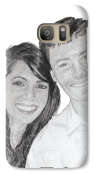 Galaxy Case featuring the painting Pac And Yassi by Quwatha Valentine