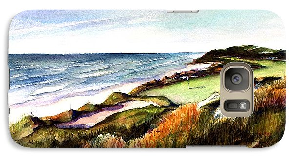 Galaxy Case featuring the painting Pacific Dunes Golf Course by Marti Green