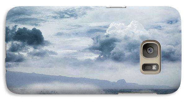 Galaxy Case featuring the photograph He Inoa Wehi No Hookipa  Pacific Ocean Stormy Sea by Sharon Mau