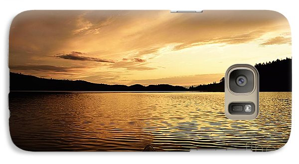 Galaxy Case featuring the photograph Paddling At Sunset On Kekekabic Lake by Larry Ricker