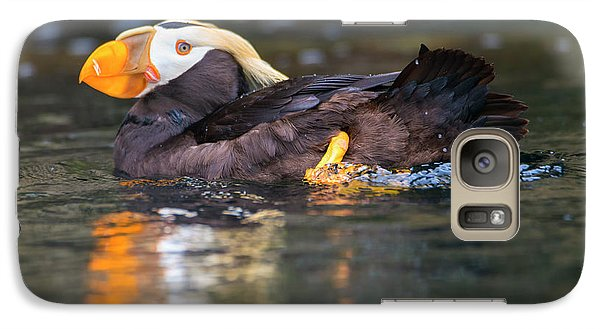 Puffin Galaxy S7 Case - Paddling Puffin by Mike Dawson
