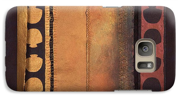 Galaxy Case featuring the painting Page Format No.4 Tansitional Series  by Kerryn Madsen-Pietsch