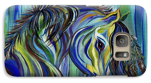 Galaxy Case featuring the painting Paint Native American Horse by Janice Rae Pariza