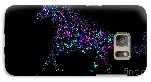 Galaxy Case featuring the painting Paint Splattered Pony by Nick Gustafson