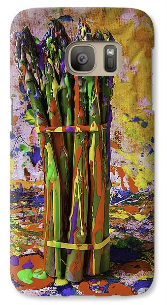 Painted Asparagus Galaxy S7 Case by Garry Gay