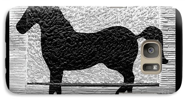 Galaxy Case featuring the photograph Painted Black - Stone Pony by Colleen Kammerer
