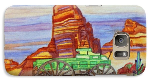 Galaxy Case featuring the painting Painted Desert by Connie Valasco