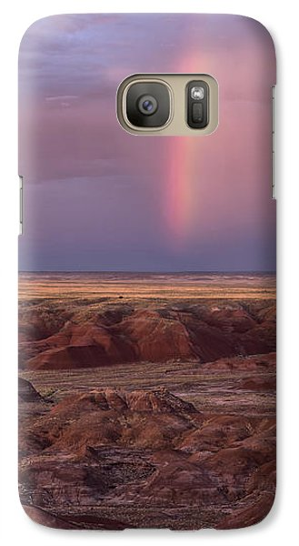 Galaxy Case featuring the photograph Painted Desert Rainbow by Melany Sarafis