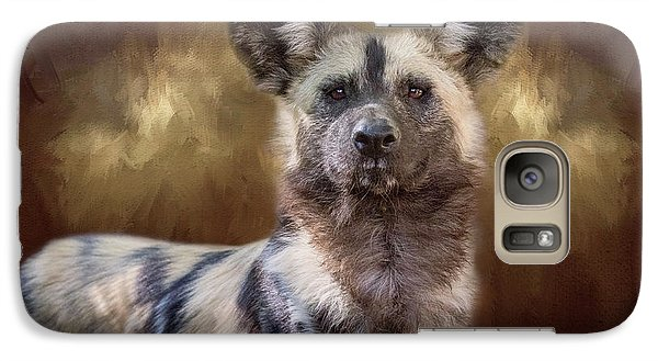 Painted Dog Portrait II Galaxy S7 Case