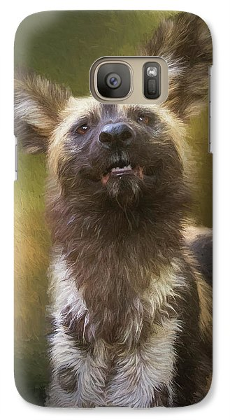 Painted Dog Portrait Galaxy S7 Case