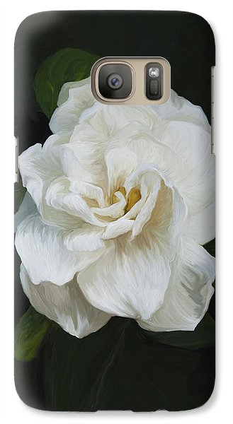 Galaxy Case featuring the photograph Painted Gardenia by Phyllis Denton