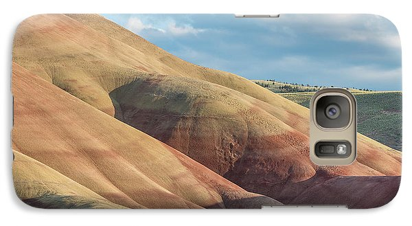 Galaxy Case featuring the photograph Painted Hill And Clouds by Greg Nyquist