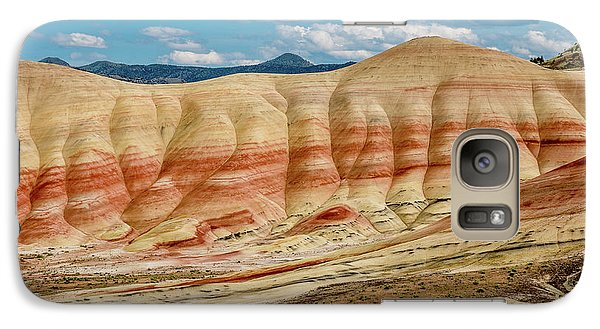 Galaxy Case featuring the photograph Painted Hills And Afternoon Sky by Greg Nyquist