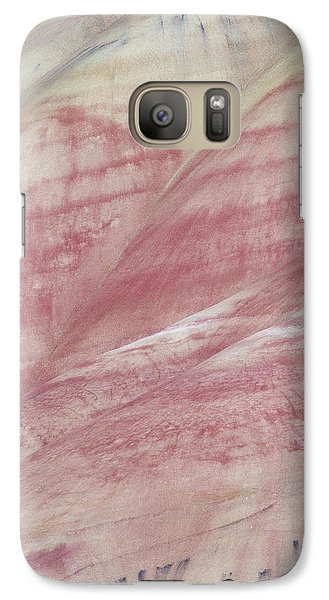 Galaxy Case featuring the photograph Painted Hills Textures 1 by Leland D Howard