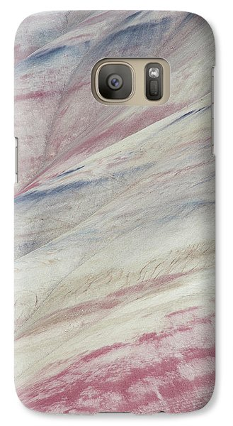 Galaxy Case featuring the photograph Painted Hills Textures 3 by Leland D Howard