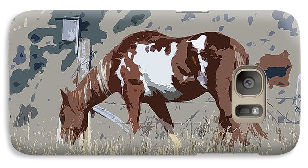 Galaxy Case featuring the photograph Painted Horse by Steve McKinzie