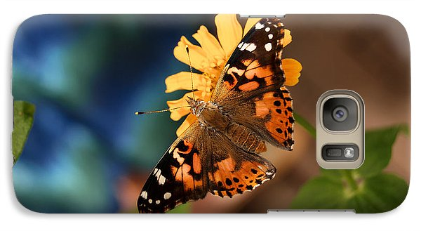 Galaxy Case featuring the photograph Painted Lady Butterfly by Eva Kaufman