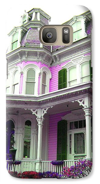 Galaxy Case featuring the photograph Painted Lady -  Victorian Age  by Susan Carella