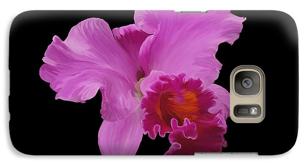 Galaxy Case featuring the photograph Painted Orchid by Phyllis Denton