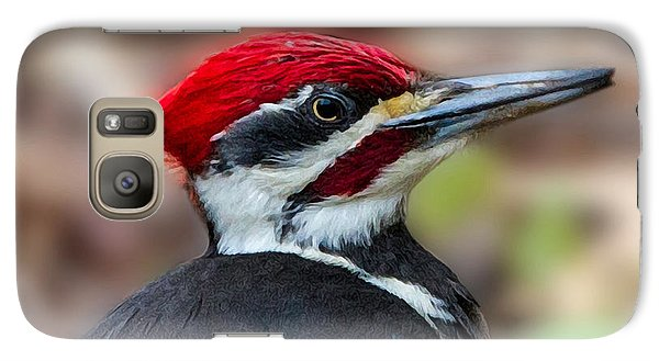 Galaxy Case featuring the painting Painted Pileated Woodpecker by John Haldane