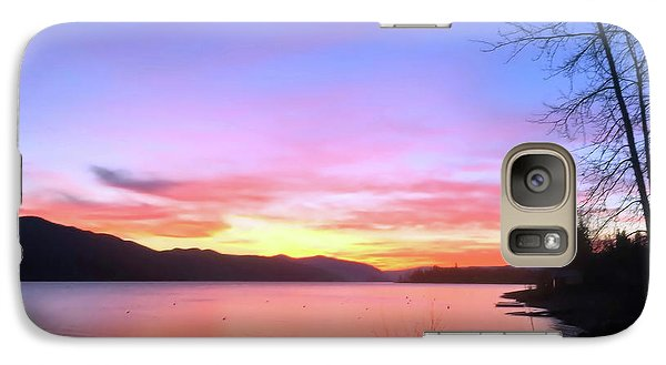 Galaxy Case featuring the photograph Painted Sky by Victor K
