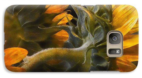 Galaxy Case featuring the photograph Painted Sun Flowers by John Rivera