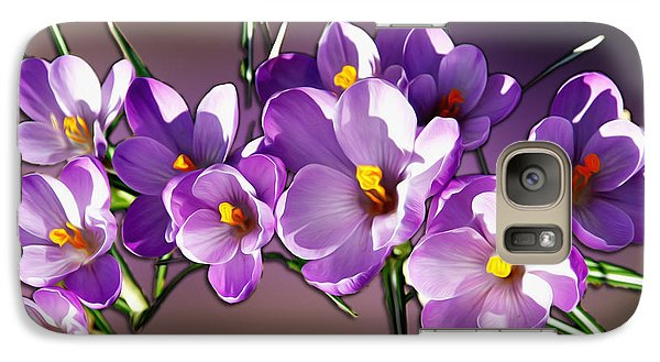 Galaxy Case featuring the photograph Painted Violets by John Haldane