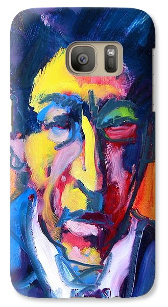 Galaxy Case featuring the painting Painter Or Poet? by Les Leffingwell