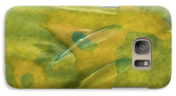 Galaxy Case featuring the photograph Painterly Fish by Carolyn Dalessandro