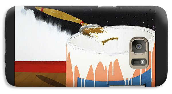 Galaxy Case featuring the painting Painting Out The Sky by Thomas Blood