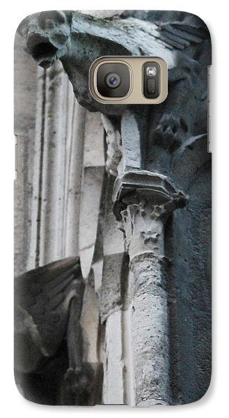 Galaxy Case featuring the photograph Pair Of Griffons Of Notre Dame by Christopher Kirby