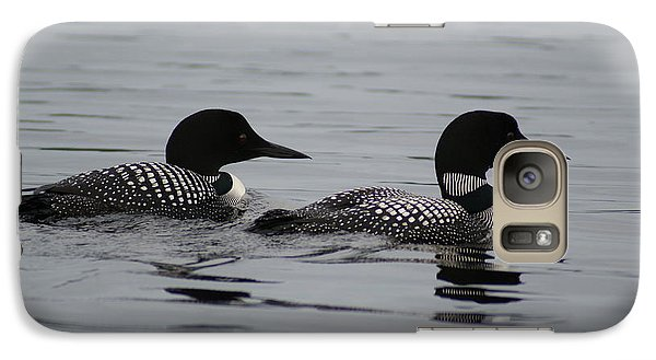 Galaxy Case featuring the photograph Pair Of Loons by Steven Clipperton