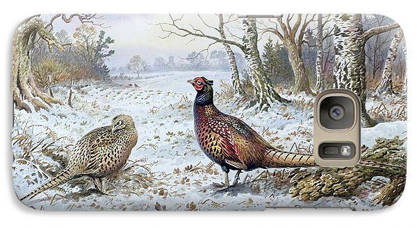 Pair Of Pheasants With A Wren Galaxy Case by Carl Donner