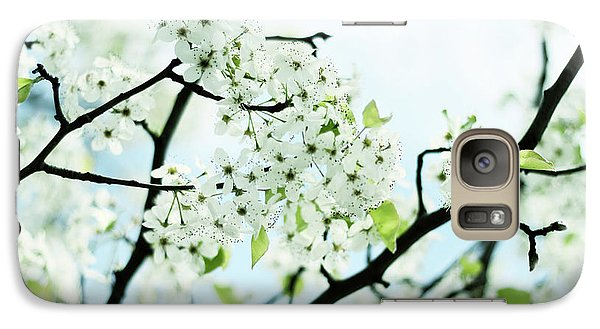 Galaxy Case featuring the photograph Pale Pear Blossom by Jessica Jenney