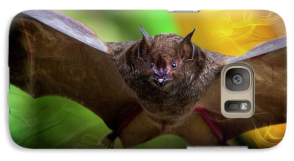 Galaxy Case featuring the photograph Pale Spear-nosed Bat In The Amazon Jungle by Al Bourassa