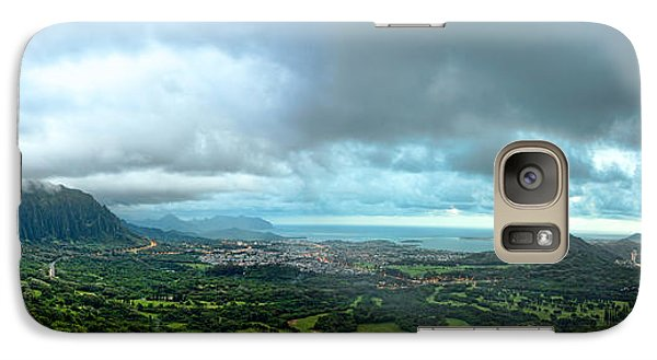 Galaxy Case featuring the photograph Pali Lookout Dawn by Dan McManus