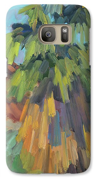 Galaxy Case featuring the painting Palm At Santa Rosa Mountains Visitors Center by Diane McClary