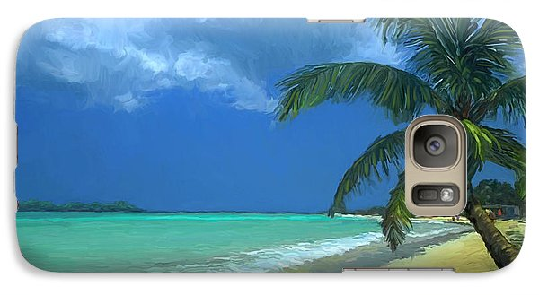 Galaxy Case featuring the painting Palm Beach In The Keys by David  Van Hulst