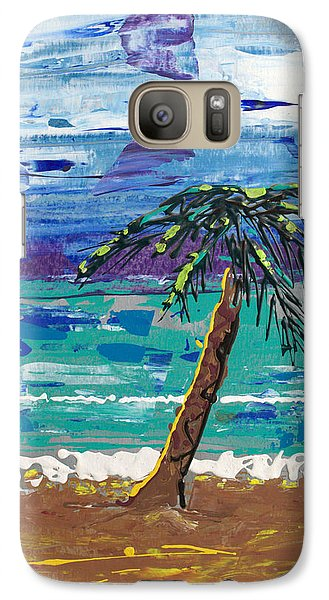 Galaxy Case featuring the painting Palm Beach by J R Seymour