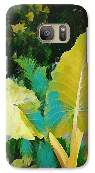 Galaxy Case featuring the painting Palm Branches by Mindy Newman